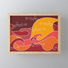 Waves V red colors V Duffle Bags Framed Mini Art Print