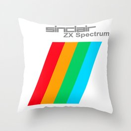 Printed items of the ZX Spectrum from SinClair computer company Throw Pillow