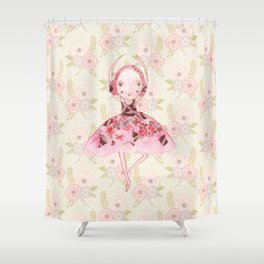 Isabella Bellarina Dancing on Flowers Shower Curtain