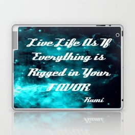 Rigged in Your Favor Rumi Quote Teal Galaxy Laptop & iPad Skin