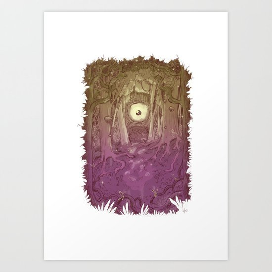 Forest Eye Art Print