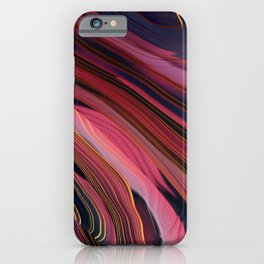 Plum Abstract iPhone Case