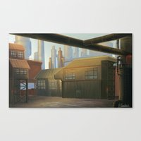 industrial Canvas Prints featuring Industrial by Toan Nguyen