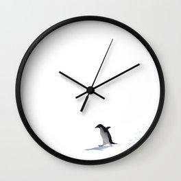 Adelie walk Wall Clock