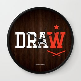 DRAW Wall Clock