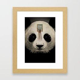 Panda window cleaner 03 Framed Art Print