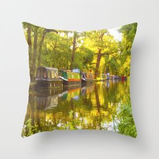 Wey Navigation Canal Throw Pillow