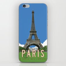 Paris Travel Poster - Vintage Style iPhone & iPod Skin