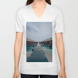 Overwater Bungalows in the Maldives Unisex V-Neck