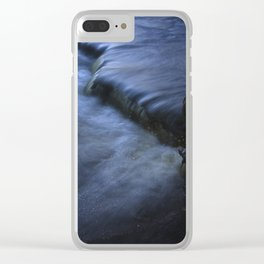 Sparkling Blue Water Slips Past Gnarled Tree Roots Clear iPhone Case