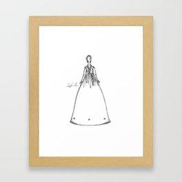 Korean Wedding Dress Framed Art Print