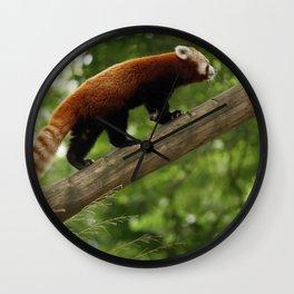 Happy Red Panda. Wall Clock