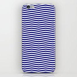 Australian Flag Blue and White Wavy Chevron Stripe iPhone Skin