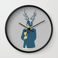 suits Wall Clocks featuring Suits me by DisdainGlittersGold