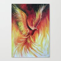 phoenix Canvas Prints featuring phoenix by OLHADARCHUK