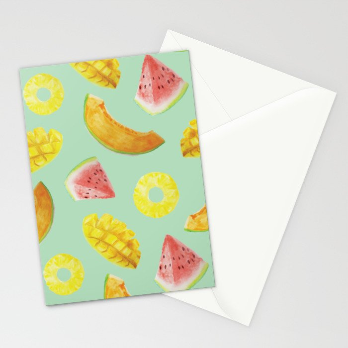 Nature's Candy Pattern Stationery Cards