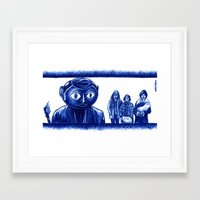 frank Framed Art Prints featuring Frank by Unaitxo