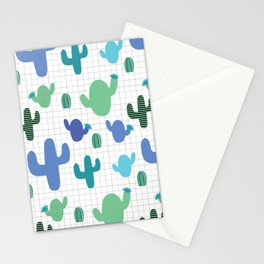 Cactus blue and green #homedecor Stationery Cards