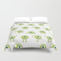monster inc Duvet Covers featuring Monster's Inc. by Pink Berry Patterns