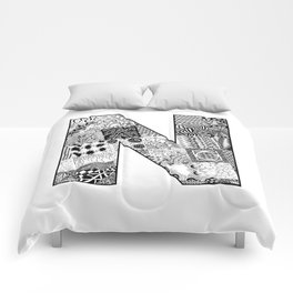 Cutout Letter N Comforters