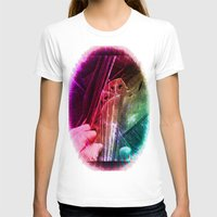 violin T-shirts featuring Violin by SwanniePhotoArt