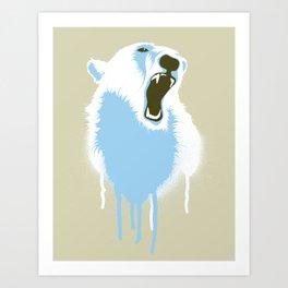 Polar Bear Head Art Print