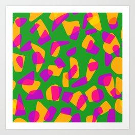 happy pink shapes Art Print