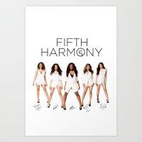 fifth harmony Art Prints featuring Fifth Harmony - signatures by xamjx3