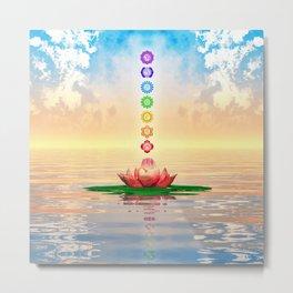 Sacred Lotus - The Seven Chakras First Edition Metal Print