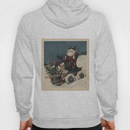 Vintage Santa Claus in a Motorized Sleigh (1920) Hoody