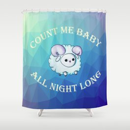 Count me baby Shower Curtain