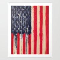 america Art Prints featuring America  by Matt Pecson