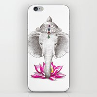ganesh iPhone & iPod Skins featuring Ganesh by Tammy Liu-Haller