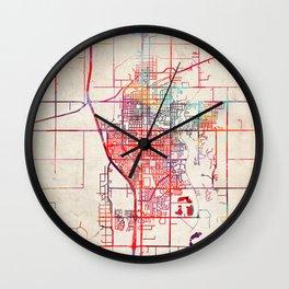Salina map Kansas KS Wall Clock