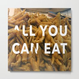All you can Eat - Market Shenzhen Metal Print