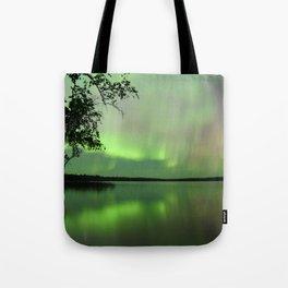 Aurora Borealis Reflection Tote Bag