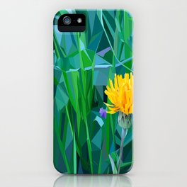 Yellow flower in the grass iPhone Case