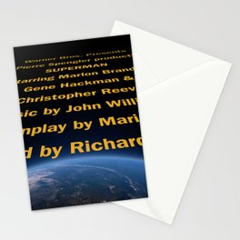 Superman cast & crew Stationery Cards