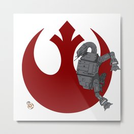 Droid Eek! (red) - BB8 and AT-AT Standoff Metal Print