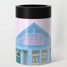 San Francisco Painted Lady Victorian House Can Cooler