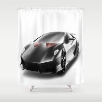 lamborghini Shower Curtains featuring Just a Lamborghini by Ispas Sorin