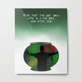 Wish You Were Here Song Lyric Print Metal Print