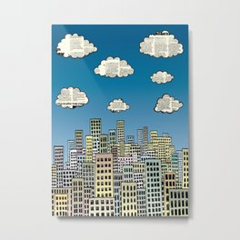 The city of paper clouds Metal Print