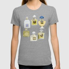 Guerlain Fragrances Womens Fitted Tee Tri-Grey SMALL