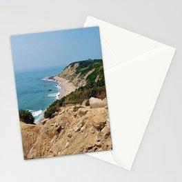 Mohegan Bluffs and Beach - Block Island (New Shoreham) Rhode Island Stationery Cards