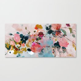 floral bloom abstract painting Canvas Print