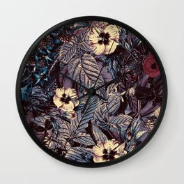 dark flowers #flower #flowers Wall Clock