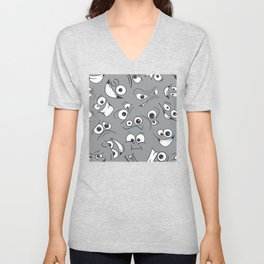 Emoji Faces Unisex V-Neck