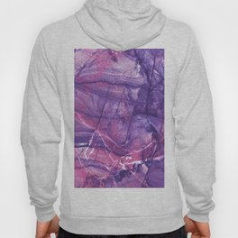 Smokey Ultra Violet and Pink Marble Hoody