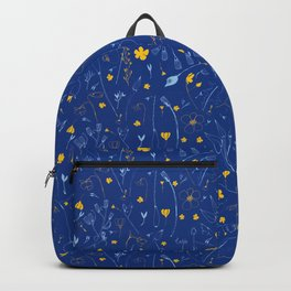 June Garden -Yellow and blue Backpack